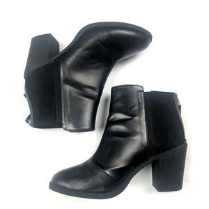Divided Black Heeled Chelsea Ankle Boots